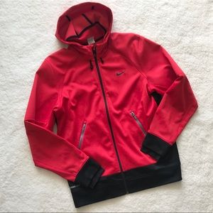 Nike Mens Therma Fit Hooded Jacket Fleece Lined Q